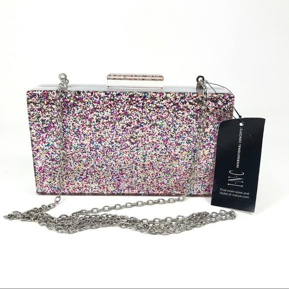 57e009a16f3b NWT INC International Concepts Sparkle Clutch Bag Boutique
